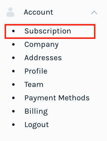 Manage Subscription in the Easyship Dashboard