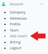 Add Credit Functionality in the Easyship Dashboard